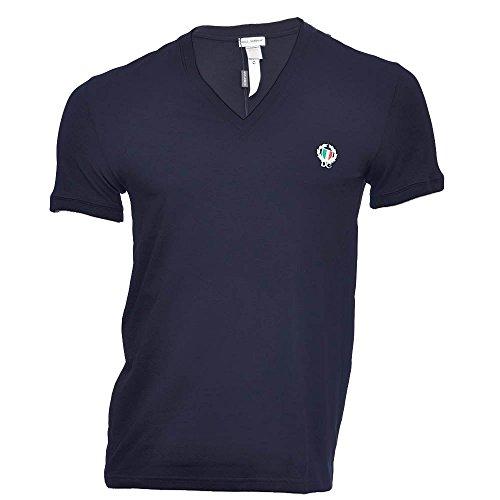 Dolce&Gabbana Underwear Herren T-Shirt Deep V-Neck, Stretch S-XL - Farbauswahl: Farbe: Dunkelblau | Größe: Medium