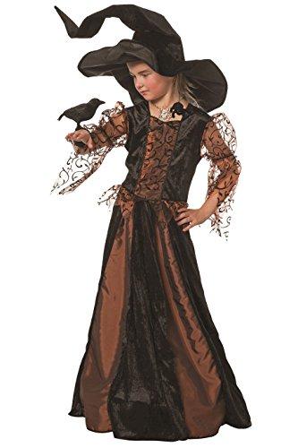 Jannes - Kostüm Hexe Kinder, Braun mit Tüll (ohne Hut) 116
