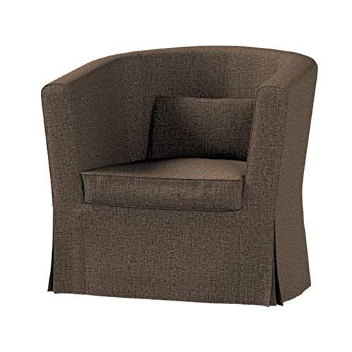 Dekoria Ektorp Tullsta Sesselbezug Sofahusse passend für IKEA Modell Ektorp beige-braun