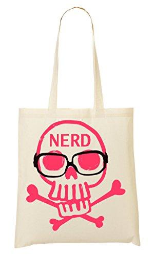 Nerd Skull Tragetasche Einkaufstasche (Emo-nerd)