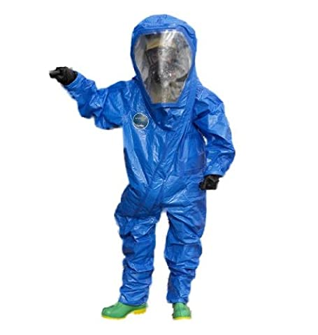 Lakeland Interceptor Fully Encapsulated Back Entry Level A Vapor Protective Suit, Disposable, X-Large, Blue by Lakeland Industries