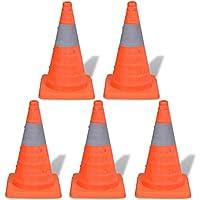 Festnight-- Cono de Carretera Plegable Conos de Tráfico Desplegables 42cm 5 Unidades