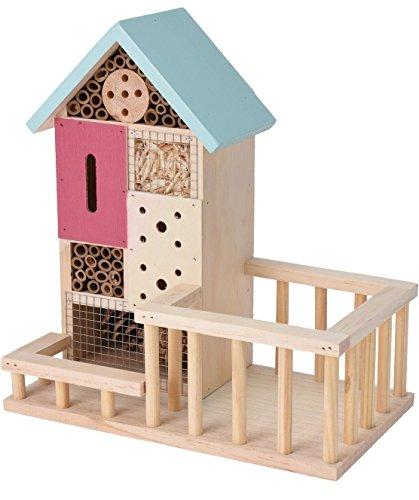 Bois Hôtel à insectes abeilles/Bug Boîte Maison/hôtel/abri bleu pastel