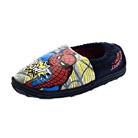 Marvel Spiderman Boys Light Up Slippers Black