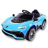 Kinder Elektroauto,Musik Licht Ferngesteuerter/Sitzen Kleinkind Car/Kinderwagen/Auto,Blue