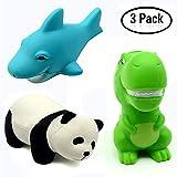Jouets visqueux, Panda 5,2 Pouces + Dinosaure 3,5 Pouces + Requin 5,2 Pouces, Squishies à Croissance Lente d'animaux, Jouets pour soulager Le Stress des charmes parfumés et sucrés (Paquet de 3)