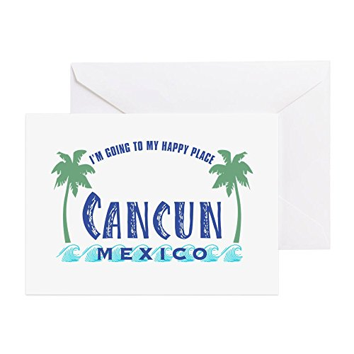CafePress-Cancun Happy Place --Grußkarte, Note Karte, Geburtstagskarte, innen blanko, glänzend