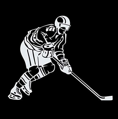 Auto Aufkleber Eishockeyspieler Persönlichkeit Kreative Vinyl Aufkleber 14 CM X 11 CM 2 stücke