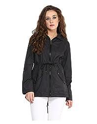 Yepme Clarice Long Jacket - Black -- YPMJACKT5124_L