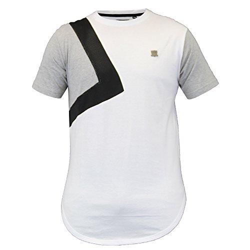 Herren Lang Leine Kurzärmelig Netz T-shirts Von Soul Star weiß - ROGUELPKA