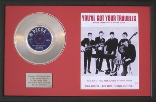 UK Music Awards fortunes-Platinum Disc & Lied Sheet-Youve Got Your Trouble