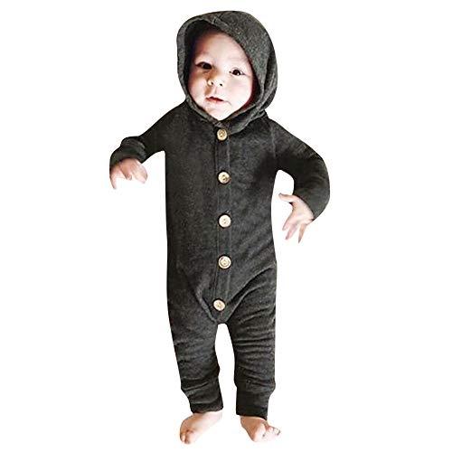 MRULIC Infant Baby Anzug Mädchen Jungen Langarm Solide -