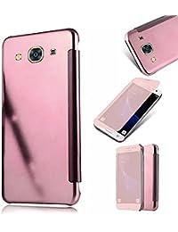 Galaxy J3 2016 Fundas,MingKun Samsung Galaxy J3 2016 J320 Funda de Cuero TPU Carcasa con Tapa y Cartera Cierre Magnético Caso Cover