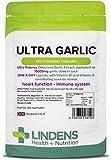 Lindens Capsule di aglio ultra da 15,000 mg | 120 Confezione | L'estratto di aglio inodore più potente sul mercato, contiene vitamine B1 e D3. Contribuisce alla salute del sistema immunitario e del cuore
