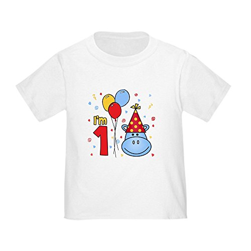 CafePress - Blue Hippo Face First Birthday Toddler T-Sh - Cute Toddler T-Shirt, 100% Cotton