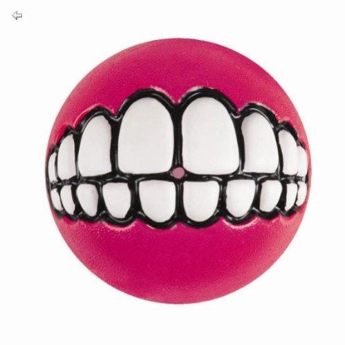 Wolters ROGZ Grinz-Ball zum Befüllen pink Snackball für Hunde 6,5cm Hundeball Ball zum befüllen Hundespielzeug