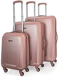 Amazon.co.uk: Gold - Luggage Sets / Suitcases & Travel Bags: Luggage