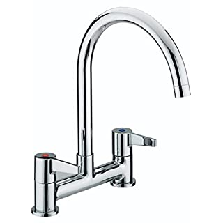 Bristan DUL DSM C Design Utility Lever Deck Sink Mixer - Chrome Plated