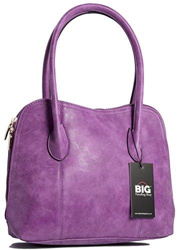 Big Handbag Shop - Borsa a tracolla donna (Viola) Aclaramiento De 2018 hFIdra0