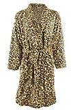 Bademantel Leopard kuschelig weich Unigröße Tiger Morgenmantel Saunamantel
