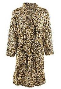 Bademantel Leopard kuschelig weich Unigröße Tiger Morgenmantel Saunamantel (Leopard Badewanne)