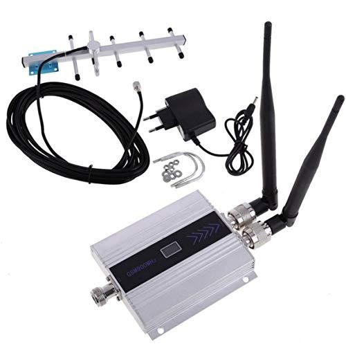 Monlladek LCD GSM 900 MHz Handy Signalverstärker Booster Verstärker + Yagi Antenne UK Buchse Telefon Signalverstärker Booster Verstärker