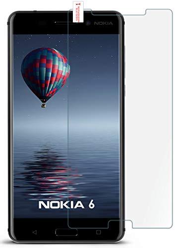 moex 9H Panzerfolie für Nokia 6 (2017) | Panzerglas Bildschirm Glasfolie [Tempered Glass] Screen Protector Glas Bildschirmschutz-Folie für Nokia 6 (2017) Schutzfolie