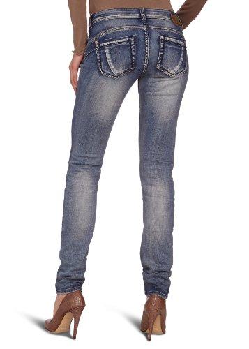 "Timezone Damen Jeans SlatinaTZ ""3322 tinted wash"" 16-5274 Skinny / Slim Fit (Röhre) Normaler Bund Blau (tinted wash 3322)"