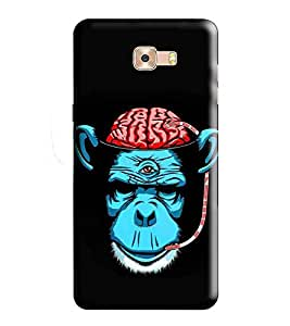 HiFi Designer Phone Back Case Cover Samsung Galaxy C7 Pro :: Samsung C7 Pro :: Samsung C7Pro :: SamsungC7 Pro ( Monkey Brain Ape PSY look )