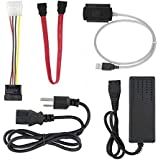 SATA/PATA/IDE Drive to USB 2.0 Adapter Converter Cable for Hard Drive Disk HDD with External AC Power Adapter