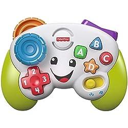 Fisher-Price la Manette de jeu et d'apprentissage, jouet interactif musical et lumineux pour bébé, avec modes apprentissage et jeu, 6 mois et plus, FWG13