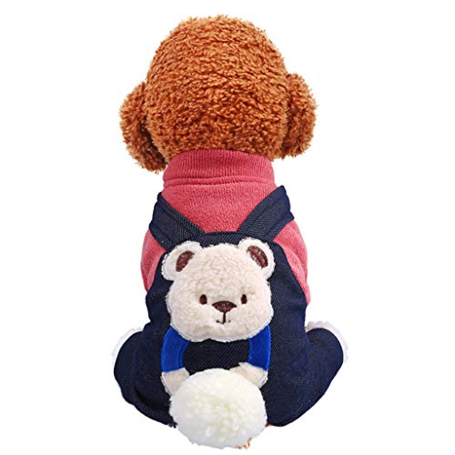 Fenverk Hundekleidung Katzenbekleidung Shirts FüR Hunde Katzen Haustier Warm Kleid Kariertes Welpen-KostüM Flanell Hundejacke Hunde, Hundemantel Gepolstert Puffer Weste Welpen(A - Schrodingers Katze Kostüm