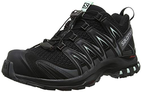 Salomon XA PRO 3D W, Scarpe da Trail Running Donna, Nero (Black/Magnet/Fair Aqua), 40 2/3 EU