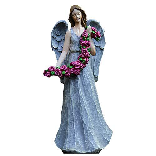 Macht Elf Kostüm - Engel Skulptur, Blume Fee Statue, Garten Statue, Harz Handwerk, Gartenarbeit Im Freien, Geeignet FüR Wohnzimmer, Garten (14x11x34 cm),DY-02