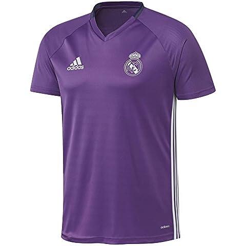 adidas Real Madrid Cf Trg Jsy Y - Camiseta para niños de 11-12 años, color morado / blanco