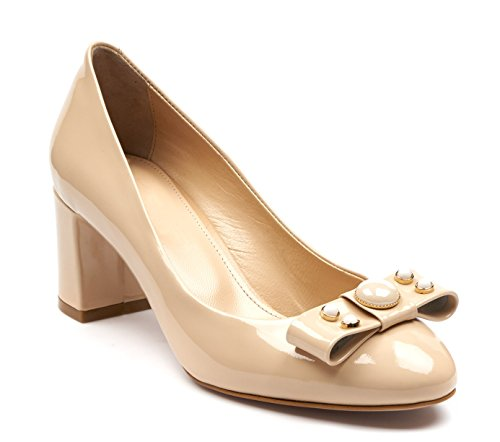 BOBERCK Jackie Collection Patent Leather Women's Pumps (9 US, Beige)