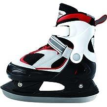 L.A. Sports, Pattini da ghiaccio Junior Prince, Nero/Bianco/Rosso, 30–33, 13500