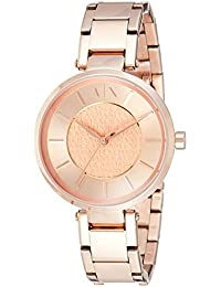 Armani Exchange Analog Rose Gold Dial Women's Watch - AX5317