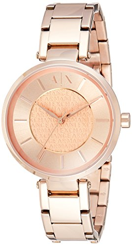 Emporio Armani Exchange Damen-Uhren, roségold, 38 mm, AX5317