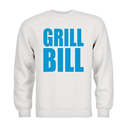 dress-puntos Kids Kinder Sweatshirt Grill Bill 20drpt15-ks00229-100 Textil white / Motiv hellblau Gr. 152/164