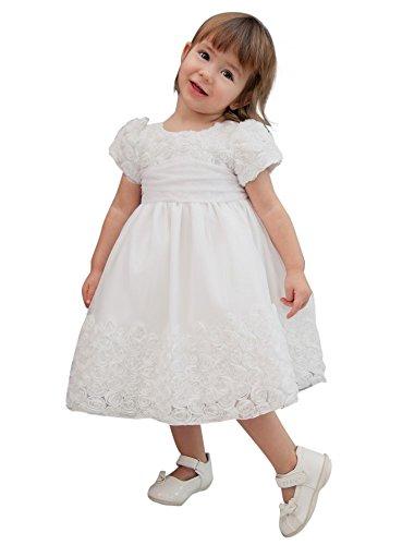2606267bc8636 Boutique-Magique Robe de baptême Blanche bébé Fille