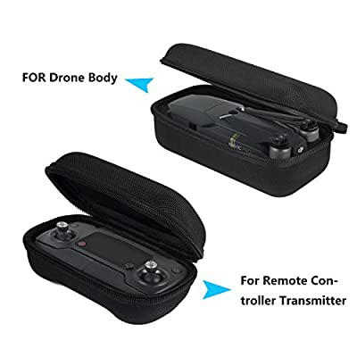 DJI Mavic Pro Carring Case,HowiseAcc Foldable Drone Body and Remote Controller Transmitter Hardshell Protective Bag Storage Box for DJI Mavic Pro