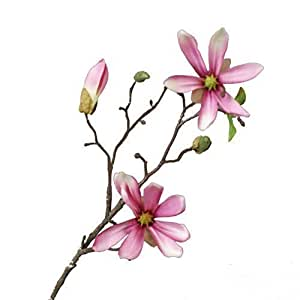 Fiore Magnolia/Magnolia Stellata Rosa 45Cm Tessile Decorativo Artificiale Dekozweig