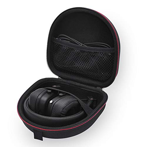 Étui Housse pour Marshall Major III/II, Mid, Monitor Headphones Casque, Coque Rigide Sac de Transport (Black)