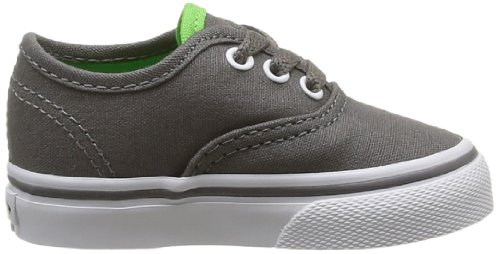 Vans Authentic, Scarpe Sportive-Skateboard Unisex – Bambini Grigio (Charcoal Grey/Green Flash)