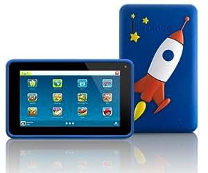 Lenco KIDZTAB-70 17,8 cm (7'') Tablette Tactile (ARM Cortex-A8 Allwinner A13 Dual Core, 1,2GHz, 512MB RAM, 4Go SSD, 2 Cameras, USB, Micro SD-Kartenleser, HDMI, Android 4.2) Bleu