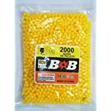 Jiada 6 MM Plastic BB Bullets For Toy Guns & Air Gun | 2000 Pcs | Yellow Colour