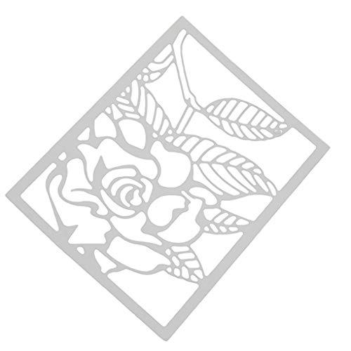 Floridivy Rose Schneideisen Metallschablone Scrapbooking Embossing Album Crafts Papierkarte Carbon Steel DIY Werkzeug
