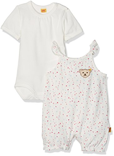 Steiff Baby-Mädchen Strampler 2tlg. Set Stampler o. Arm + T-Shirt, Mehrfarbig (Allover 0003), 56