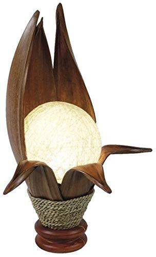 Lampe LOTUS - Deko-Leuchte, Stimmungsleuchte handgefertigt, Tischlampe, 6 Blätter